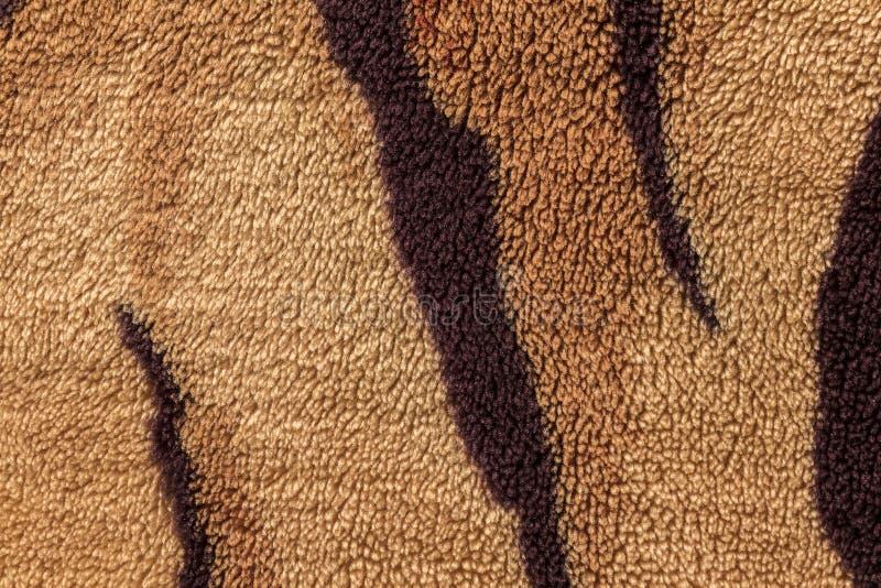Beschaffenheit von Pelzbettdecken stockfotografie