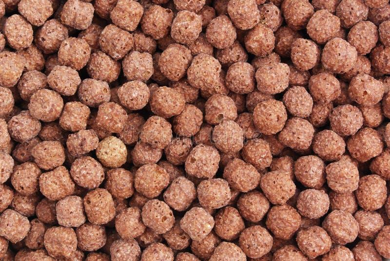 Beschaffenheit von SchokoladenCorn Flakes lizenzfreie stockbilder