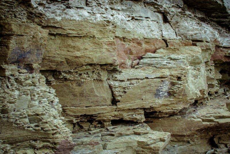 Beschaffenheit von Steinen und von Hintergrund Steine auf der Flussbank Dnie lizenzfreie stockfotos