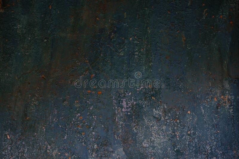 Beschaffenheits-Hintergrundwand der Dunkelheit abgenutzte rostige Metall stockfotos