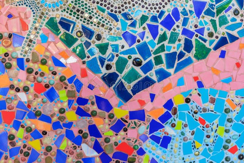 Beschaffenheits-Mosaikmuster-Zusammenfassungshintergrund des Kieses bunter stockbild