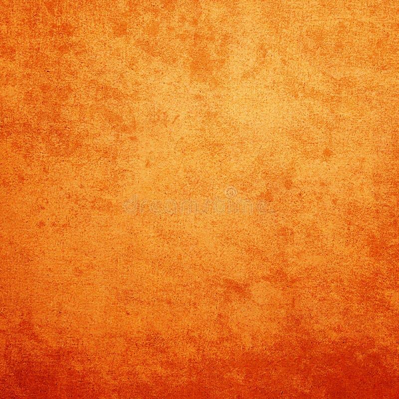 Beschaffenheits-Zusammenfassungshintergrund des Schmutzes orange mit Raum für Text lizenzfreie abbildung