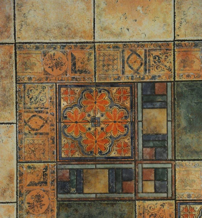 Beschaffenheitsfliesenboden in einer Mosaikart vektor abbildung