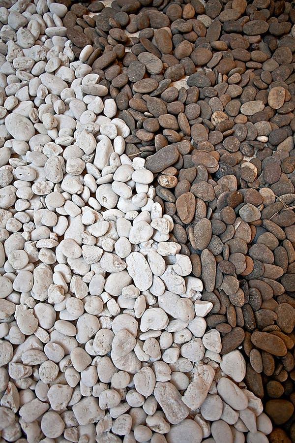 Beschaffenheitsgeröllkies-Kornstein der Natur brauner weißer stockbilder