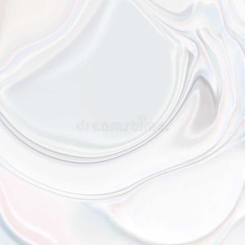 Beschaffenheitshintergrund der Seide 3d der abstrakten Perlenmode weißer gewellter stock abbildung