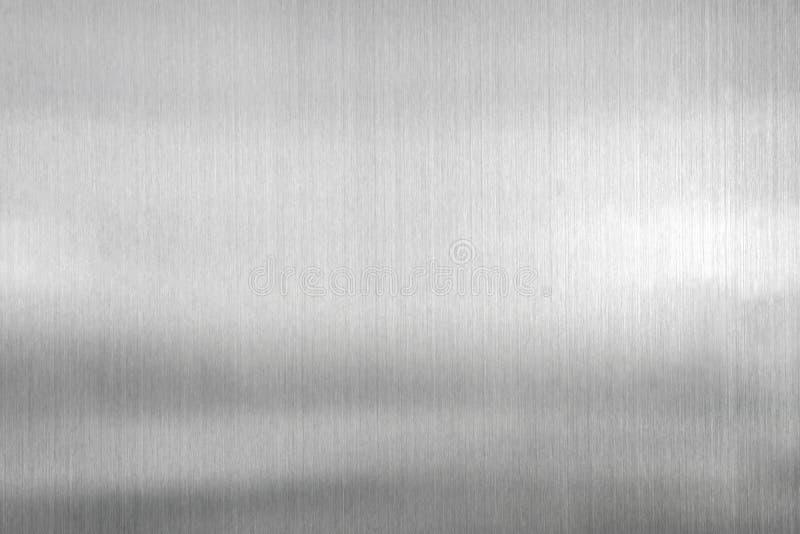 Beschaffenheitsmetallhintergrund der gebürsteten Stahlplatte lizenzfreie stockbilder