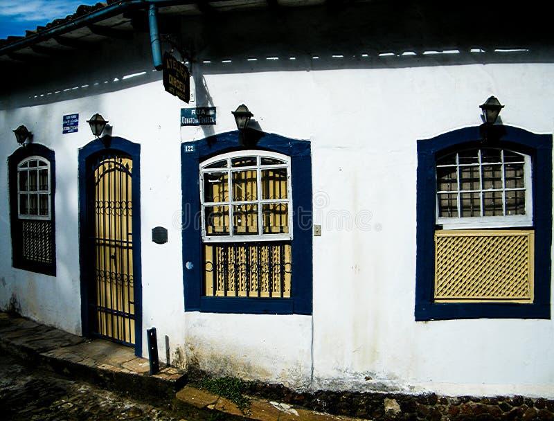 Bescheiden huizen in Ouro Preto royalty-vrije stock afbeelding