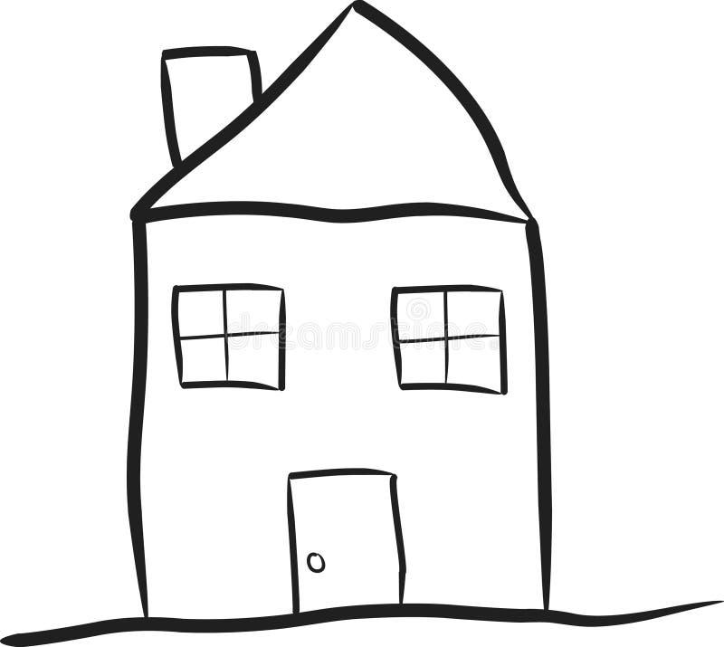 Bescheidenes Haus stock abbildung