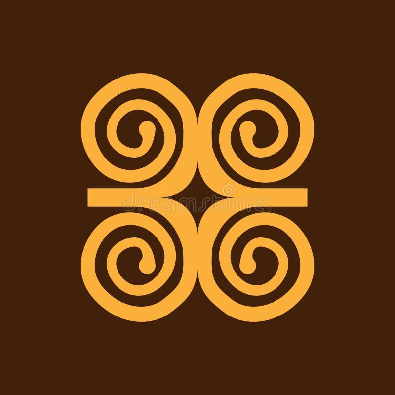 Bescheidenheit mit Stärke oder Symbol von wisdowm adinkra Symbol Stammes- Symbol in Afrika Auch im corel abgehobenen Betrag stock abbildung