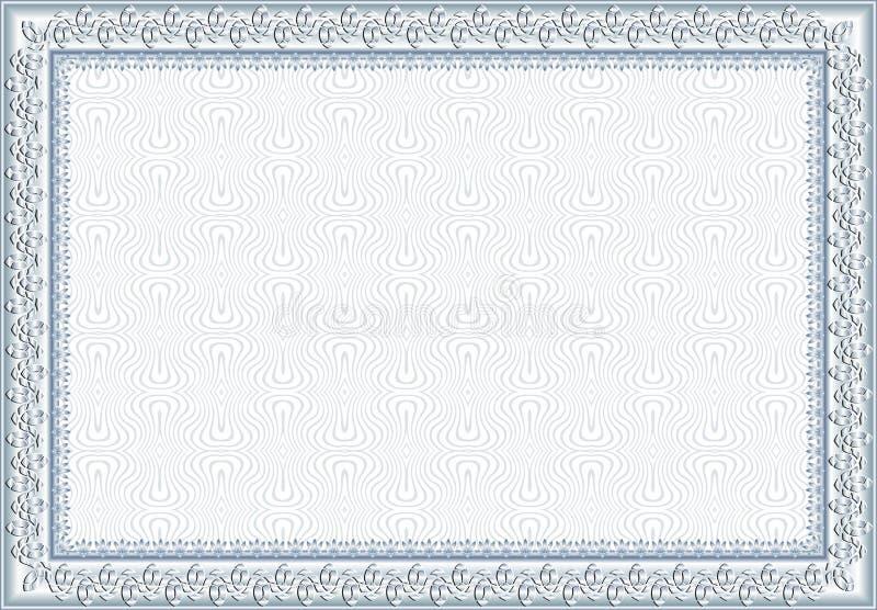 Bescheinigung, Diplom für Druck stockbilder