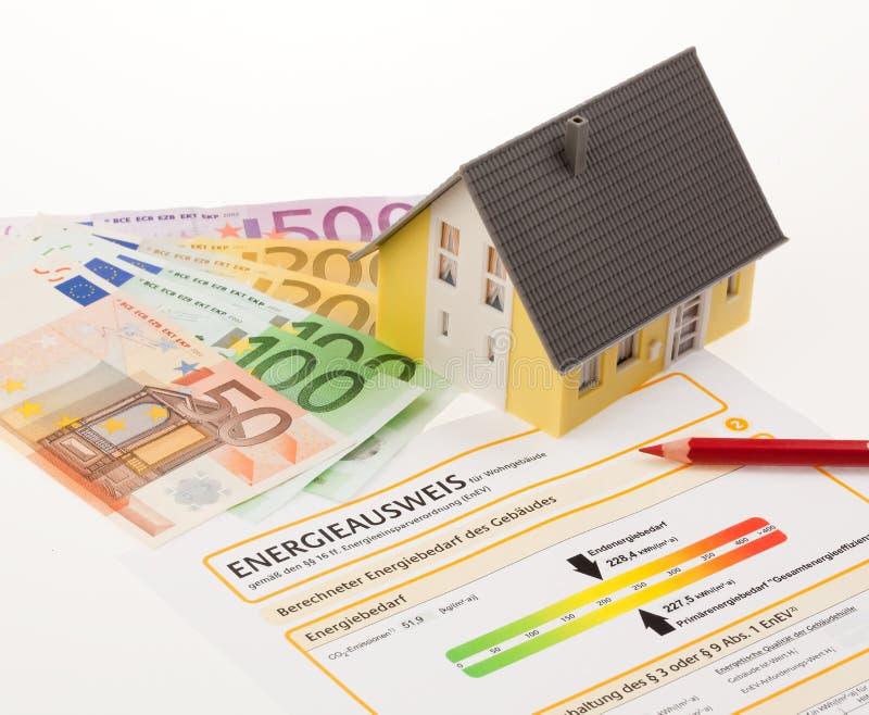 Bescheinigung für einzelnes Familien-Haus, Deutschland lizenzfreie stockfotos