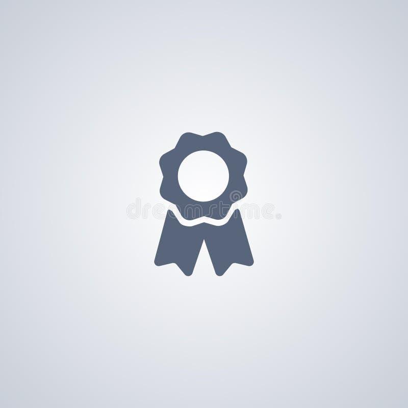 Bescheinigung, Leistung, vector beste flache Ikone stock abbildung