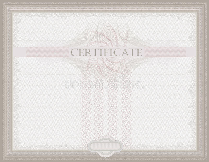 BescheinigungGuilloche horizontal   lizenzfreie abbildung