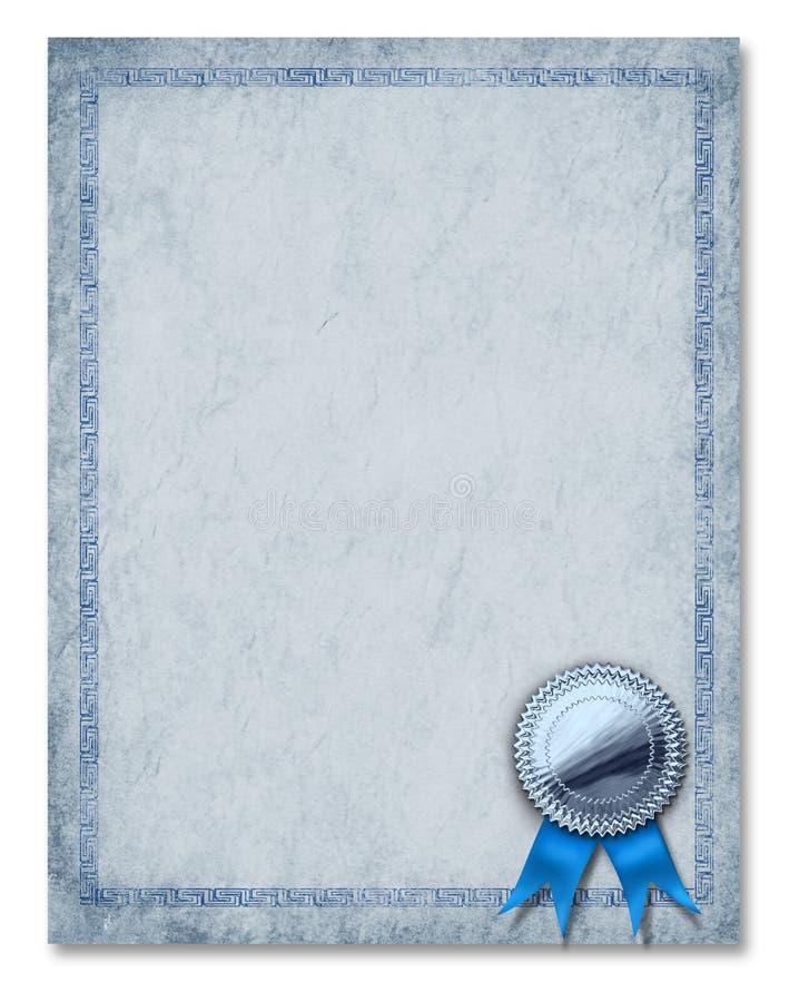 Bescheinigungs-Feld-Diplom-Preis-Hintergrund Blan lizenzfreie abbildung