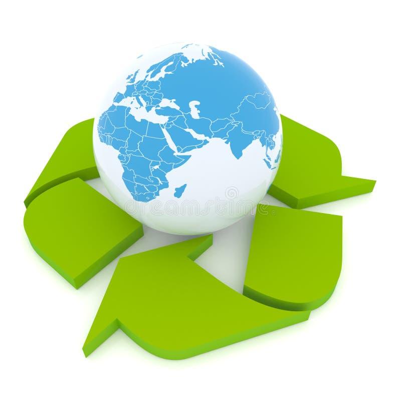 Bescherm de Aarde stock illustratie