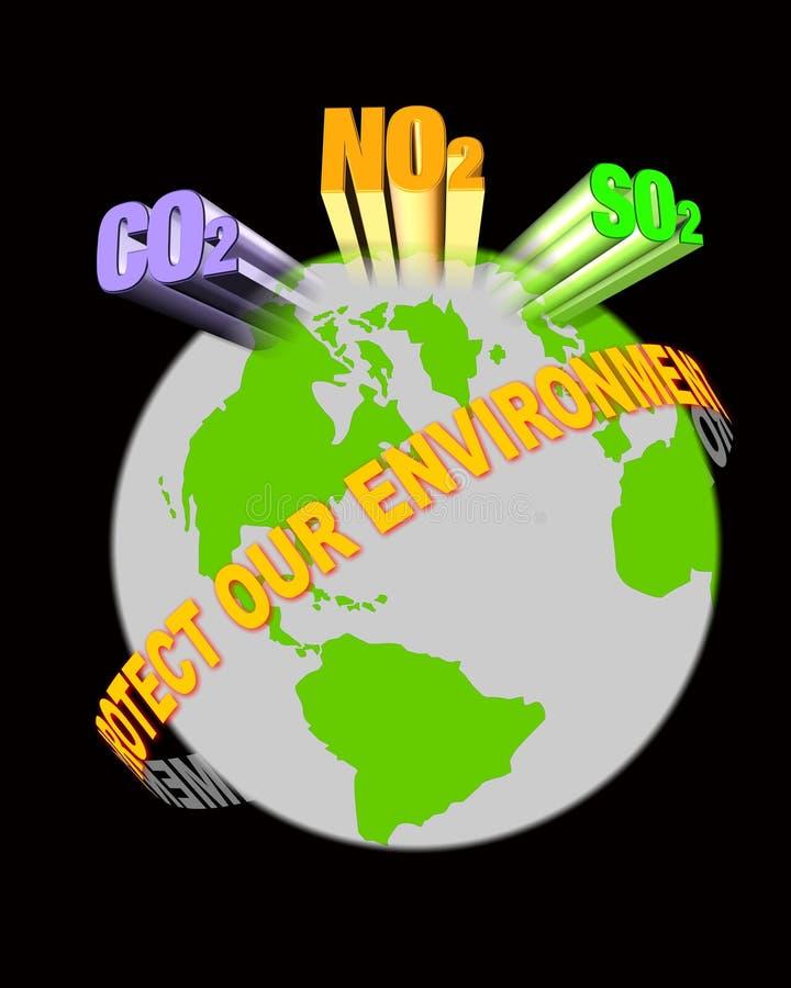 Download Bescherm ons milieu stock illustratie. Afbeelding bestaande uit conceptueel - 2228309