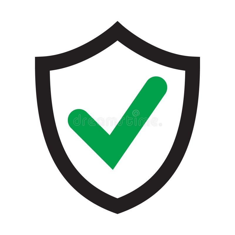 Bescherm schild vlak pictogram Gecodeerd symboolpictogram vector illustratie