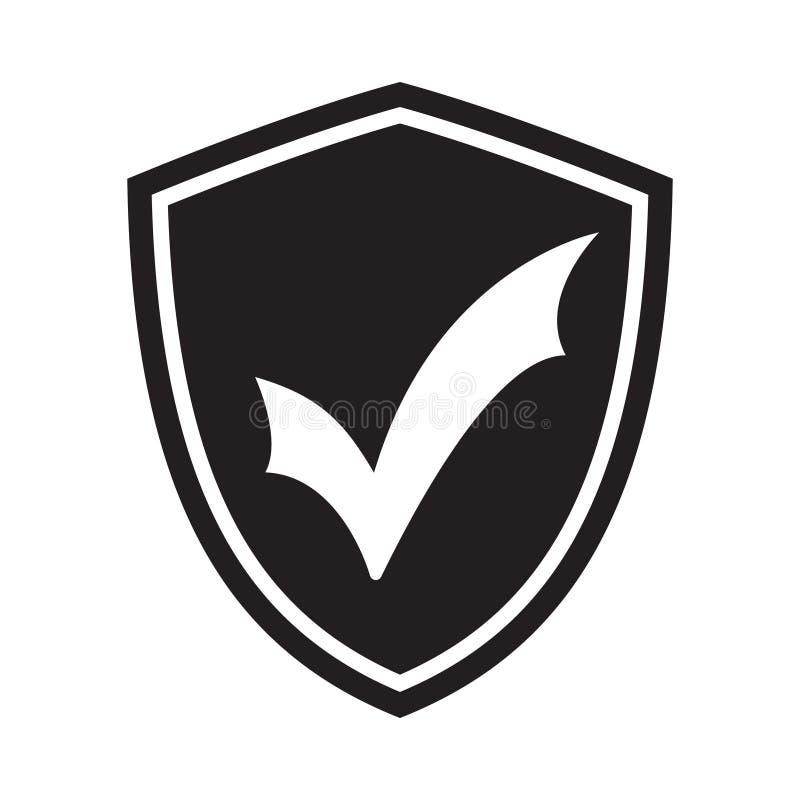 Bescherm schild vlak pictogram Gecodeerd symboolpictogram royalty-vrije illustratie