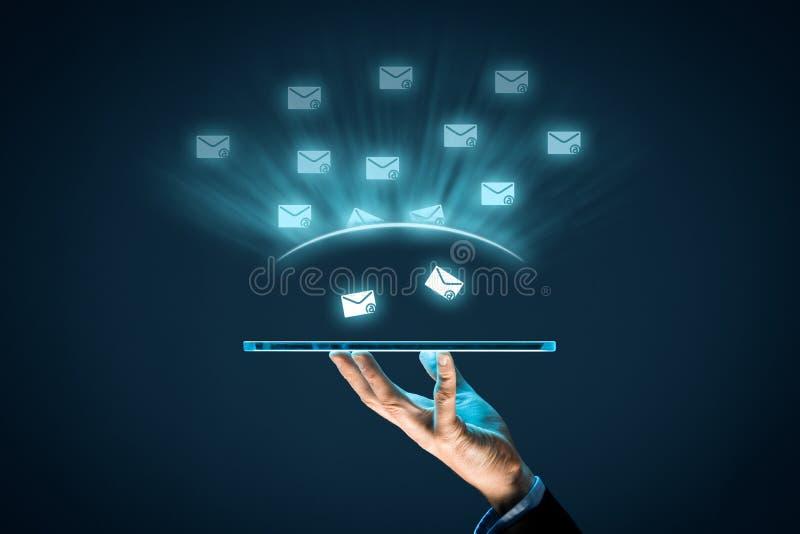 Bescherm tegen spam stock fotografie