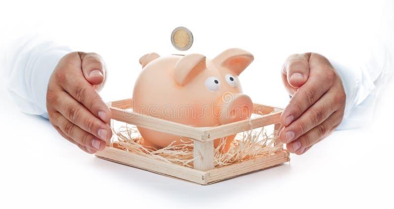 Bescherm Uw besparingen royalty-vrije stock afbeeldingen