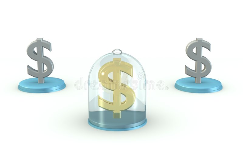 Bescherm uw dollar royalty-vrije stock foto
