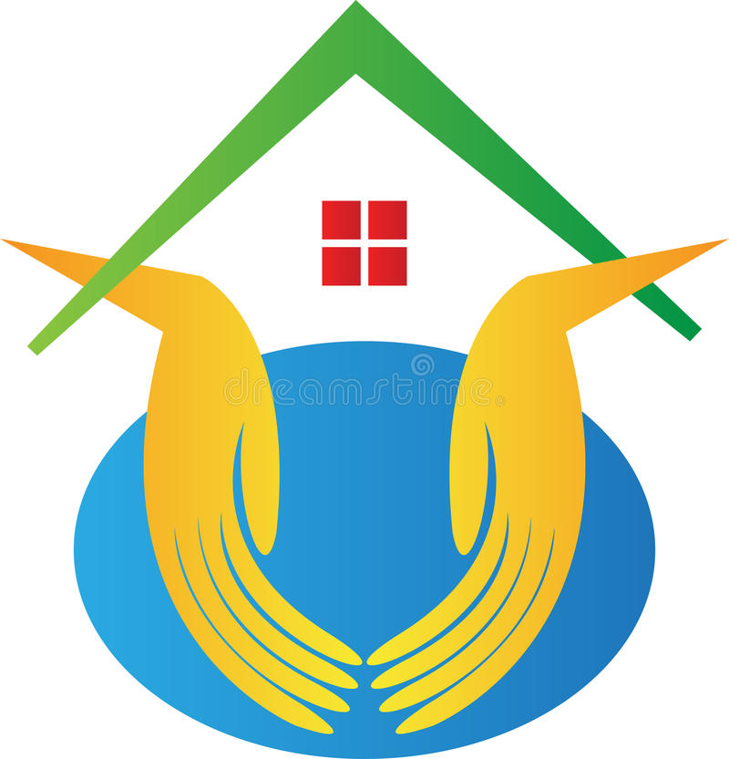 Bescherm uw huis royalty-vrije illustratie