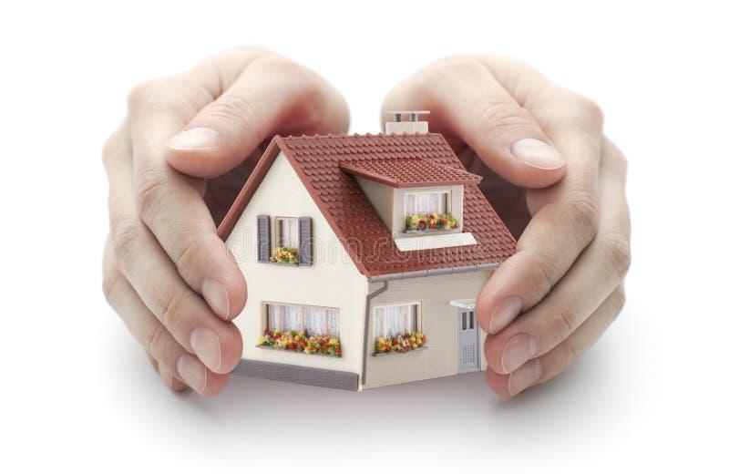 Bescherm uw huis stock afbeelding