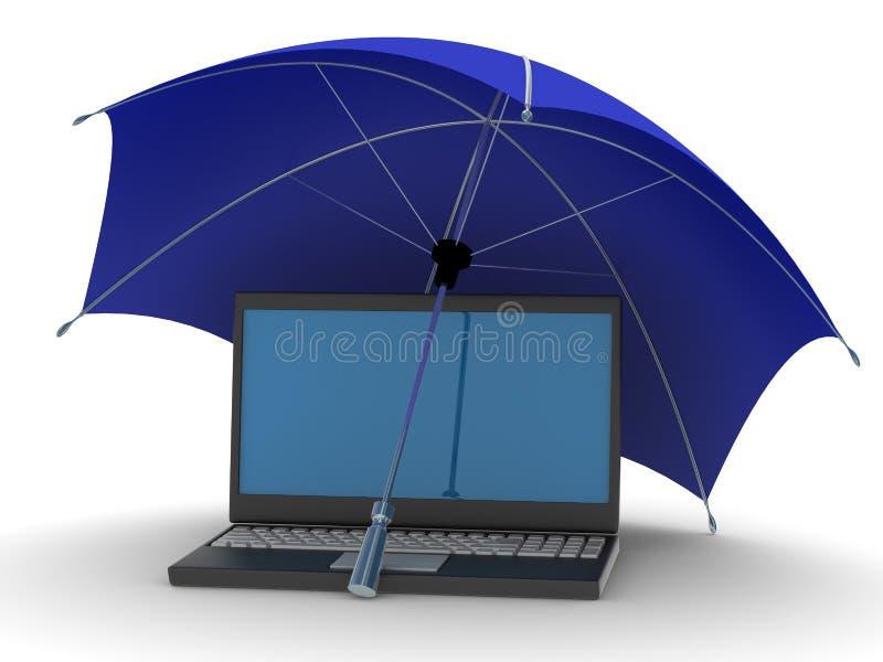 Beschermd mondiaal net Internet vector illustratie