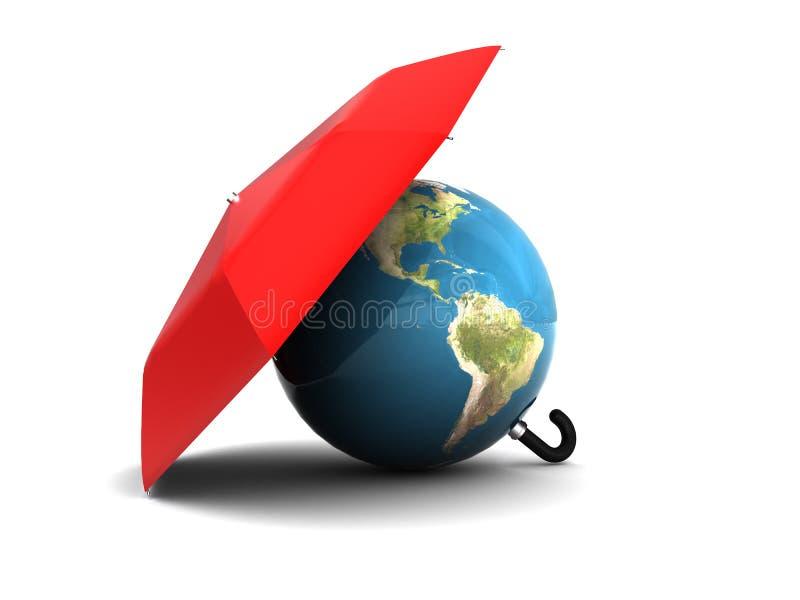 Beschermde aarde vector illustratie