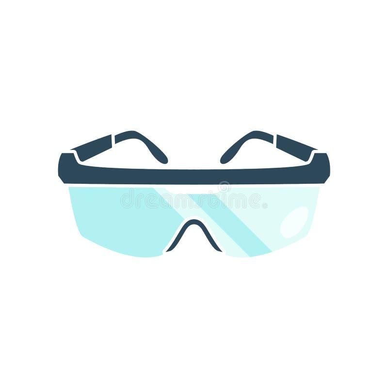 Beschermende brillen op witte achtergrond stock afbeelding
