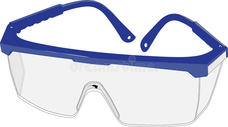 Beschermende safety_glasses royalty-vrije stock afbeelding