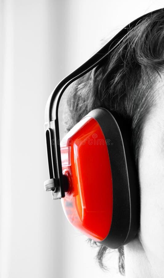 Bescherming tegen lawaai royalty-vrije stock afbeelding