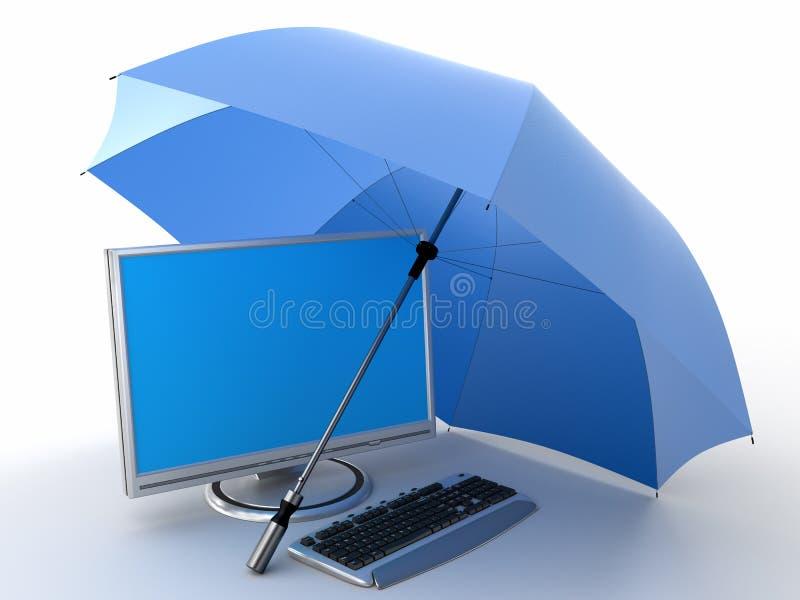Bescherming van computer royalty-vrije stock afbeelding
