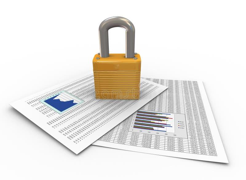 Bescherming van documenten vector illustratie