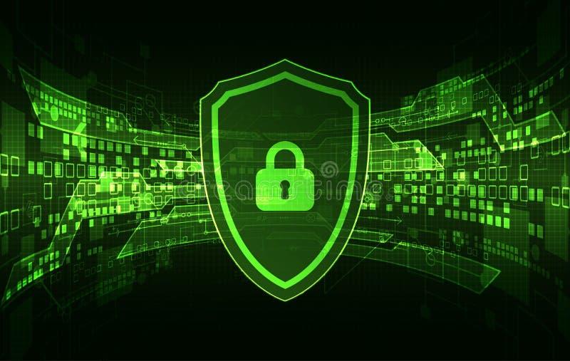 Beschermingsconcept digitaal en technologisch stock illustratie