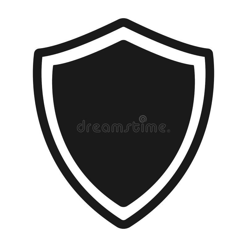 Beschermingspictogram Schild, de vector van het wachtpictogram vector illustratie