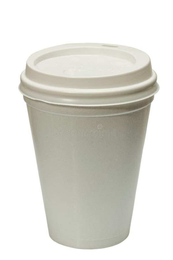 Beschikbare koffiekop stock afbeelding
