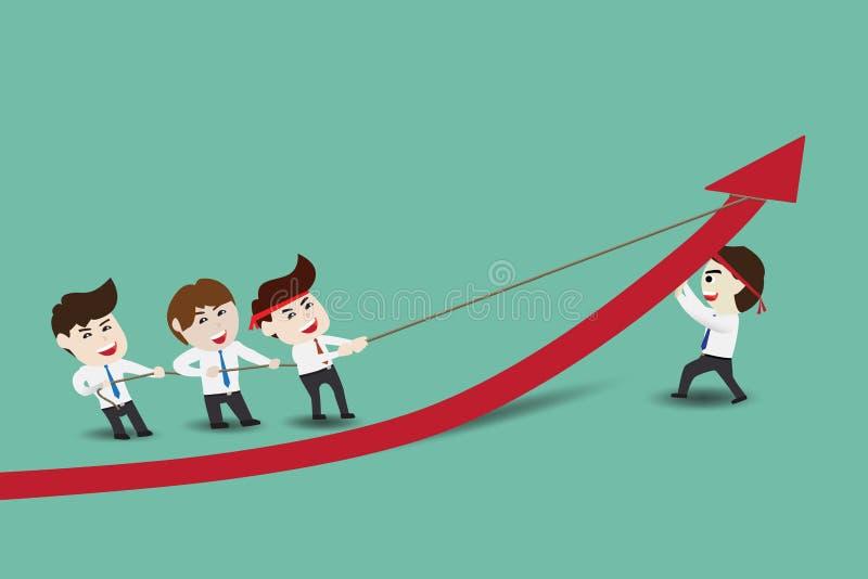Beschleunigen Sie Geschäftswachstum lizenzfreie abbildung