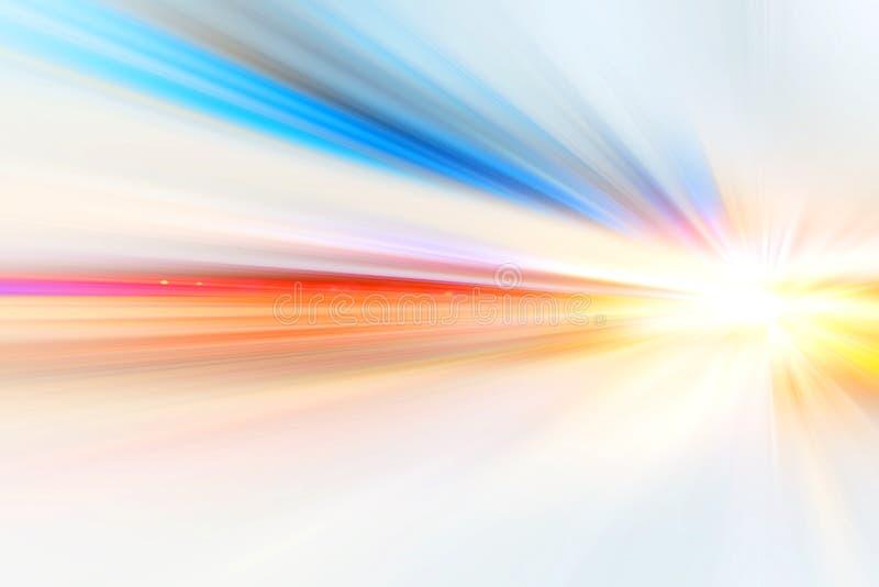 Beschleunigung Super schnelles Tempo, unscharfer weißer Farbton für Hintergrund-Design lizenzfreies stockfoto