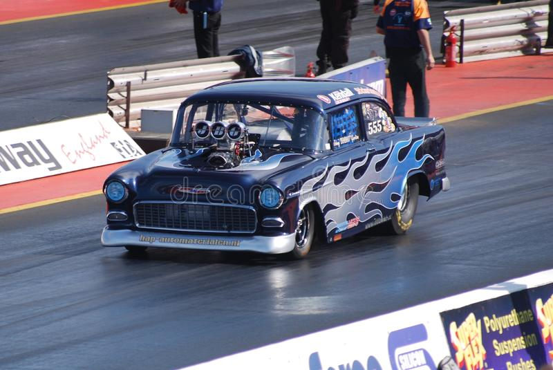 Beschleunigungsrennen Chevrolet stockfoto