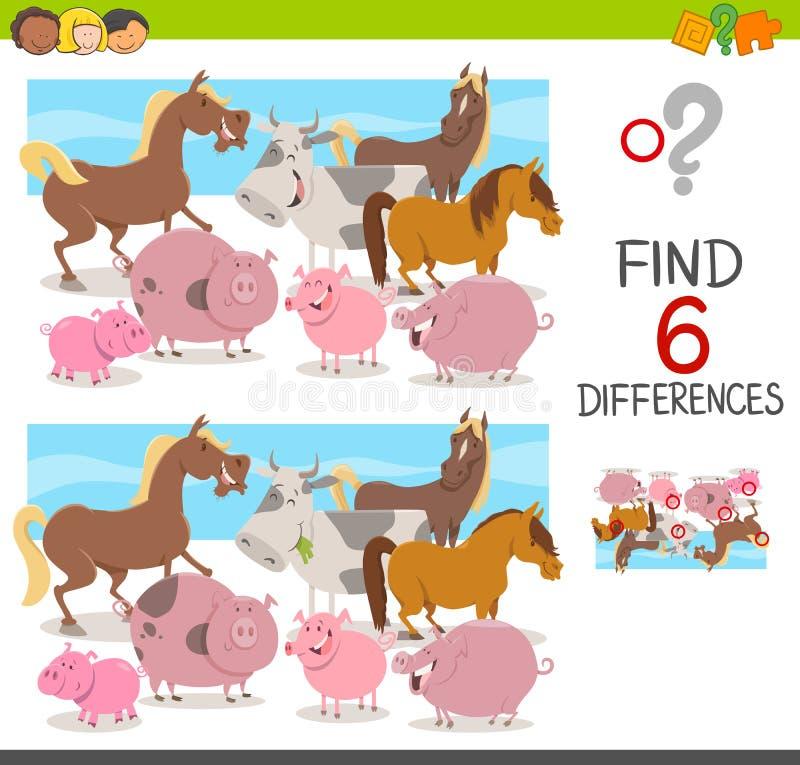 Beschmutzen Sie die Unterschiede für Kinder lizenzfreie abbildung
