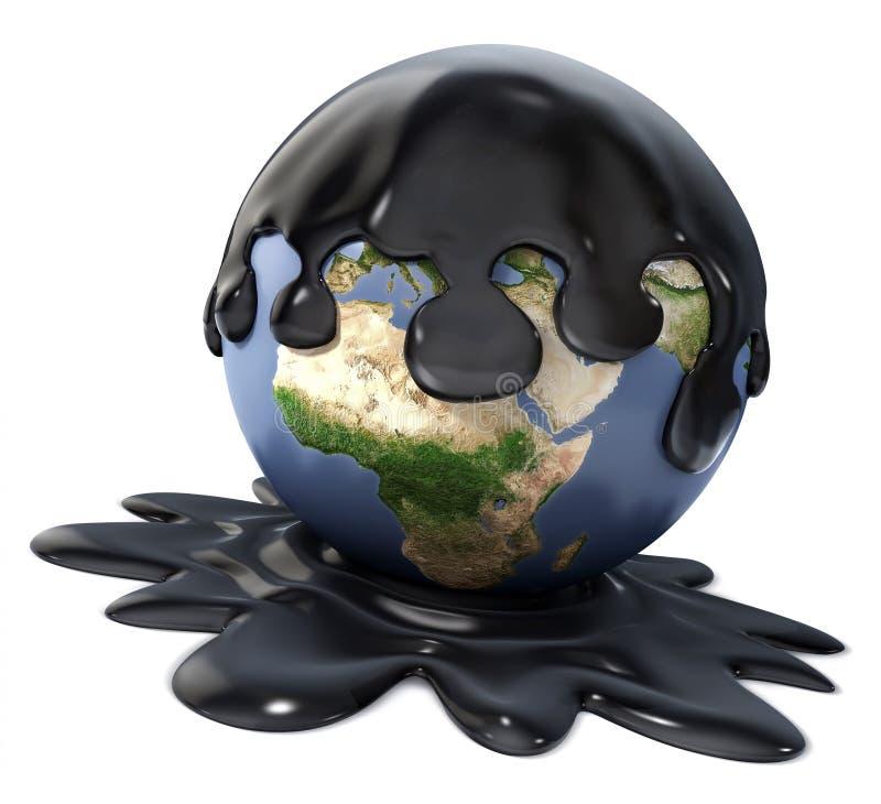 Beschmutzte Welt stock abbildung