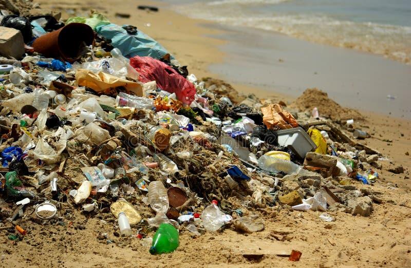 Beschmutzter Strand stockfotografie