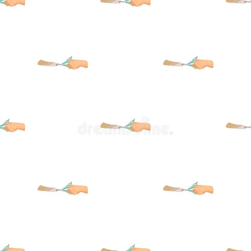 Beschneidung der Greifer eines Haustieres in einer Veterinärklinik Haustier, einzelne Ikone der Hundesorgfalt im Karikaturartvekt lizenzfreie abbildung