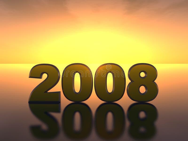 Beschreibung 2008 stock abbildung