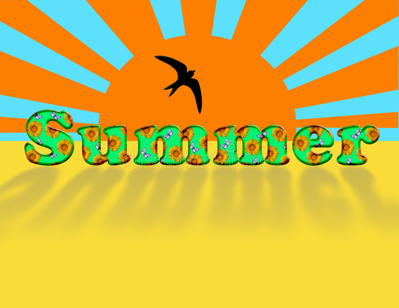 Beschreibung - Sommer. lizenzfreie abbildung