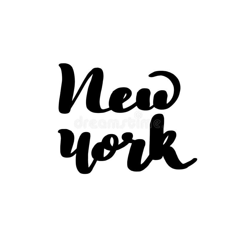 Beschriften der Aufschrift New York Vektor lizenzfreie abbildung