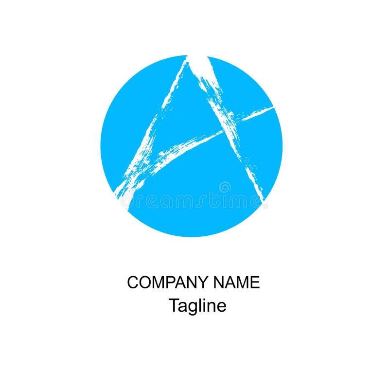 Beschriften Sie ein Logo der Bürste lizenzfreies stockfoto