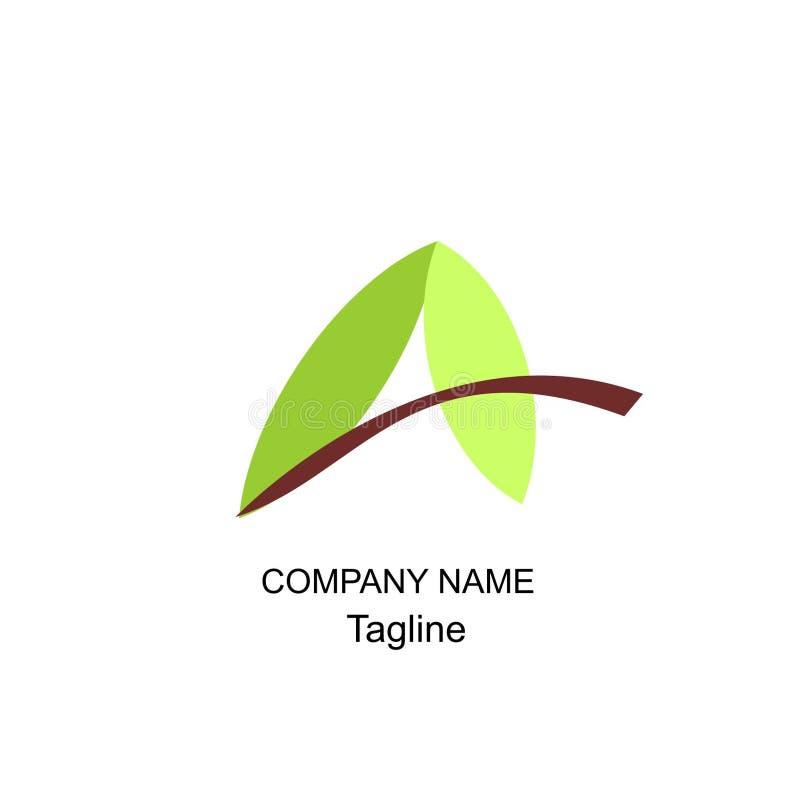 Beschriften Sie ein Logo von abstrac Design und geomatric lizenzfreie stockbilder