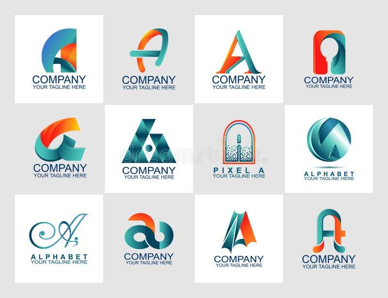 Beschriften Sie eine Logobühnenbildschablone mit abstraktem Logo, moderne styleDesign Schablone mit abstraktem Logo, moderne Art vektor abbildung